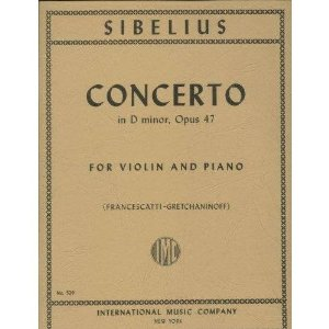 Sibelius, Jean - Concerto In d minor Op. 47. For Violin & Piano. Published by International Music